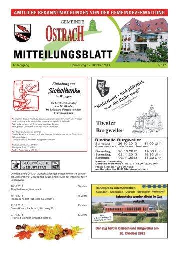 Mitteilungsblatt Woche 42 - Ostrach