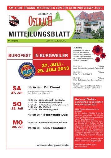 Mitteilungsblatt Woche 30 - Ostrach