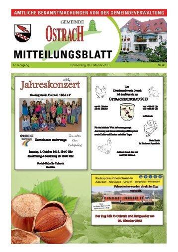 Mitteilungsblatt Woche 40 - Ostrach