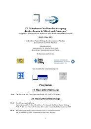 Programm – 19. März 2003 - Institut für Ostrecht