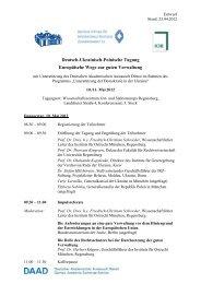 Deutsch-Ukrainisch-Polnische Tagung Europäische Wege zur guten ...