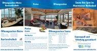 Saunaspaß und Sauna Hot Spot im Meerwasser Wellenbad Preise ...