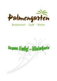 Speisekarte Restaurant