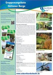 Gruppenangebote Hüttener Berge - Eckernförde Touristik GmbH
