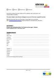 Erfassungsbogen Gastgeberdaten Internet - Ostseeferienland