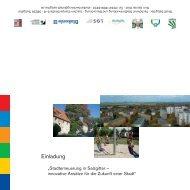 Einladung zur Ausstellung (ca. 60 kB) - OST- UND WESTSIEDLUNG