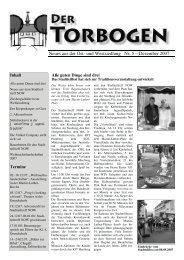 Neues aus der Ost- und Westsiedlung Nr. 5 – Dezember 2007