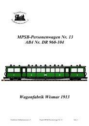 MPSB-Personenwagen - Frankfurter Feldbahnmuseum eV