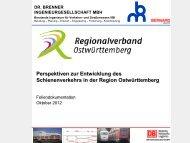 Perspektiven zur Entwicklung des Schienenverkehrs in der Region ...