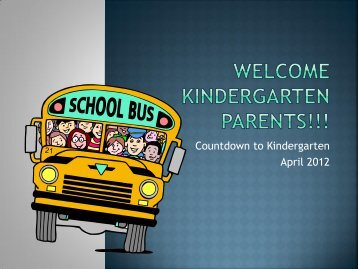 Countdown to Kindergarten April 2012 - Oswego Community Unit ...