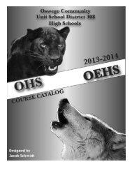 Course Catalog - Oswego Community Unit School District 308