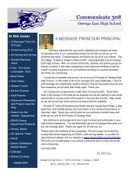 October 2012 - Oswego Community Unit School District 308