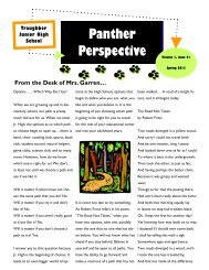 Spring 2013 Panther Perspective - Oswego Community Unit School ...
