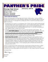 January 2012.pub - Oswego Community Unit School District 308