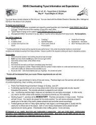 OEHS Cheerleading Tryout Information and Expectations - Oswego ...