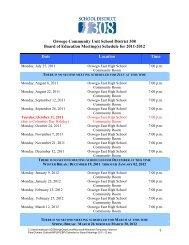 Oswego Community Unit School District 308 Board of Education ...
