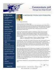 August 2012 - Oswego Community Unit School District 308