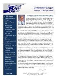 march 2013.pub - Oswego Community Unit School District 308