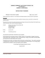 Project #2013-4001 Fuel Bid - Oswego Community Unit School ...