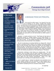 December 2012 - Oswego Community Unit School District 308