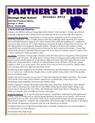 October 2012.pub - Oswego Community Unit School District 308
