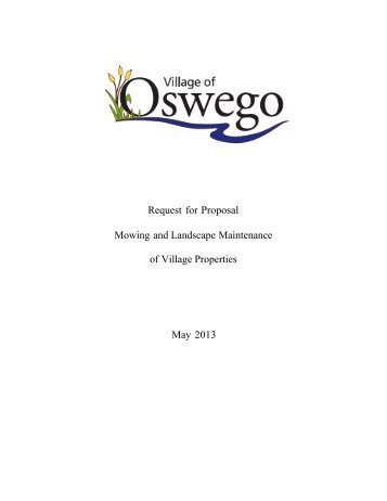 Mowing and Landscaping Bid Information Packet - Oswego Illinois