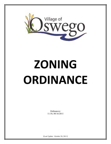 Zoning Ordinance - Oswego Illinois