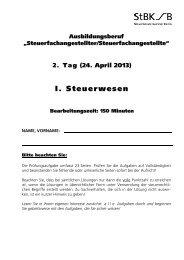 Prüfungsaufgaben SL Sommer 2013 - OSZ Lotis Berlin