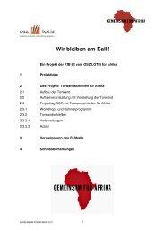 Wir bleiben am Ball - Projektbeitrag der KfB 82 - OSZ Lotis Berlin
