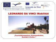 LEONARDO DA VINCI Mobilität - OSZ Lotis Berlin