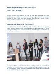 4. Projekttreffen in Grosseto/Italien vom 2. bis 8 ... - OSZ Lotis Berlin