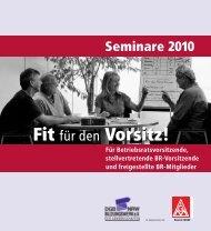 Fit für den Vorsitz! Fit für den Vorsitz! - DGB-Bildungswerk NRW e.V.