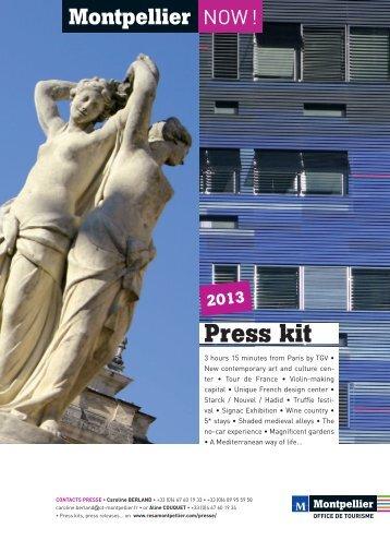 Press kit - Office de Tourisme de Montpellier