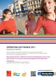 DP2011 Cap France.indd - Office de Tourisme de Montpellier
