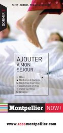 Dormir 2013 - Office de Tourisme de Montpellier