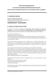 appel d'offre - Office de Tourisme de Montpellier