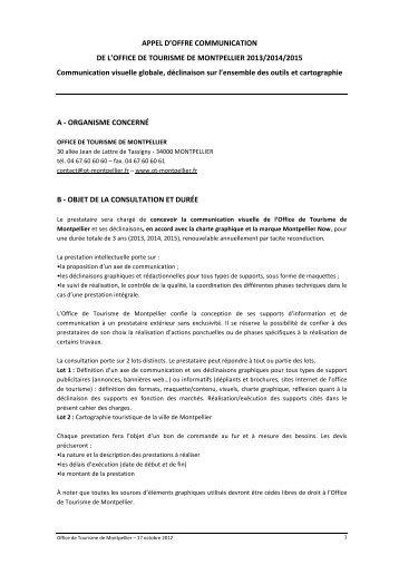 Appel d 39 offres fabula - Offre d emploi directeur office de tourisme ...