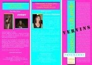 PROGRAMME 2010-2011(1) - Office de tourisme de Vervins et du ...