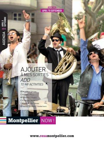 Agenda 2013 - Office de Tourisme de Montpellier