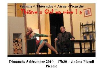 Théâtre « Ciel ma mère - Office de tourisme de Vervins et du Vervinois