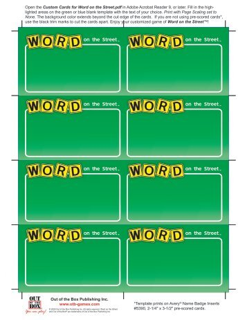 Custom Cards for Word on the Street.pdf - Out of the Box Publishing