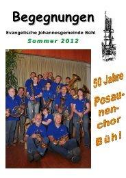 Begegnungen - Evangelische Johannesgemeinde Bühl