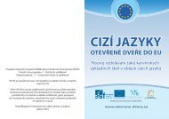 Kvartální zpravodaj č. 1.pdf - Cizí jazyky - Otevřené dveře do EU