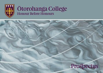 Ōtorohanga College Prospectus