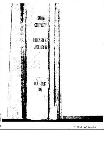 Jack Benny Program 1947 Oct-Dec.pdf - Old Time Radio ...