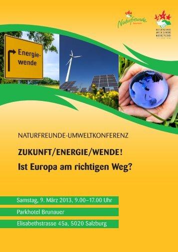 Programm der Naturfreunde-Umweltkonferenz