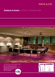 Seminare & Events bei WEIN & CO Mariahilfer ... - Tourismuspresse