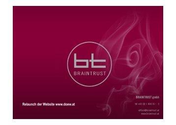 Relaunch der Website www.doew.at - Braintrust