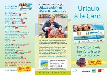 Flyer KüstenCard - Cuxland