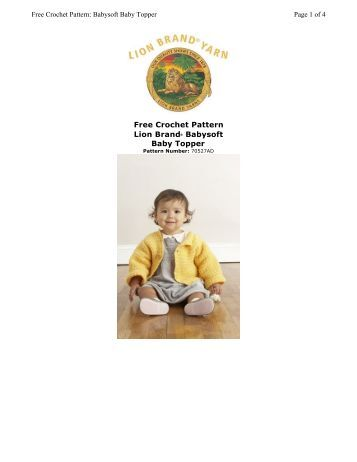 Free Crochet Pattern Lion Brand® Babysoft Baby Topper